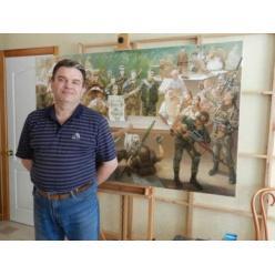 В Днепре открылась персональная выставка художника-баталиста Сергея Чайки
