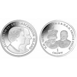 Остров Вознесения посвятил монету 70-летию брака королевы Елизаветы и принца Филиппа
