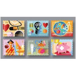 ООН представила марки в честь юбилея ВОЗ и Всемирного дня здоровья