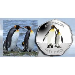 Правительство Фолклендских островов выпустило новую красочную монету из серии «Пингвины»