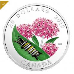 В Канаде отчеканена монета, украшенная гусеницей