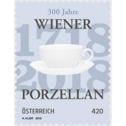 В Австрии выпущена почтовая марка в честь 300-летия  Венской фарфоровой мануфактуры