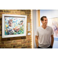 В Великобритании на торгах будет распродана серия портретов с теннисистом Энди Мюреем