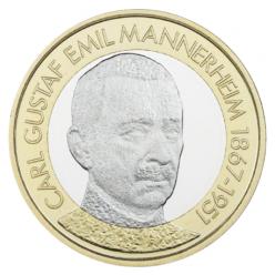 В Финляндии запустили в оборот монету с Карлом Маннергеймом