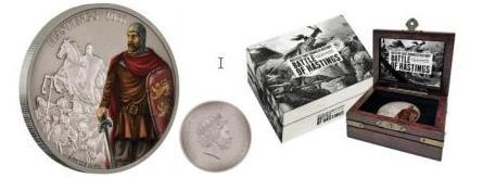 Представлена памятная монета Новой Зеландии — «Битва при Гастингсе»