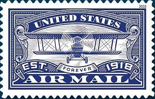 В США годовщину авиапочты отметили выпуском новой марки