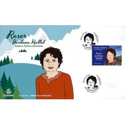 Почта Испании выпустила новую марку серии «Женщины Андорры»