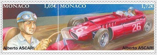 В Монако выпущен почтовый блок в честь легендарного гонщика Альберто Аскари