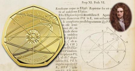 Випущена пам'ятна монета, присвячена Ісааку Ньютону