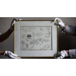 На аукцион Sothebys выставлена карта мира Винни-Пуха