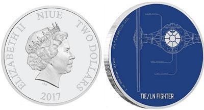 В Новой Зеландии выпущена монета, посвященная звездным истребителям