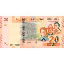 В денежном обращении Боливии появились купюры номиналом 20 боливиано из новой серии
