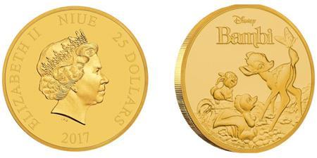 В Австралии отчеканили монету с изображением олененка «Бэмби»