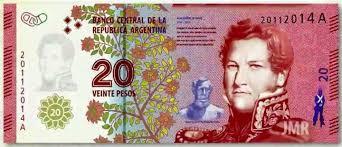 В Аргентине появятся обновленные банкноты номиналом 20 песо