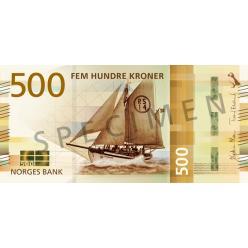 В Норвегии выпустят в обращение новые банкноты номиналом 50 и 500 крон