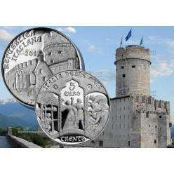 Серебряная монета «Город Тренто» вышла в обращение в Италии