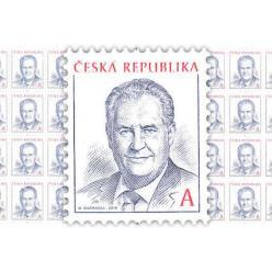 Поступила в продажу новая марка с изображением действующего президента Чешской Республики Милоша Земана