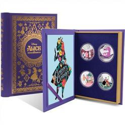 В Новой Зеландии выпустили набор серебряных монет «Алиса в Стране чудес»