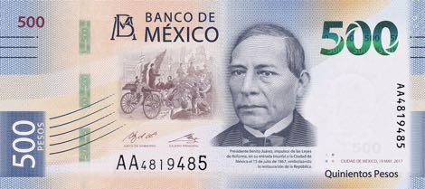 В Мексике представили новую банкноту номиналом 500 песо