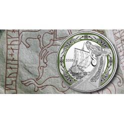 В Канаде представлена новая монета с изображением корабля викингов