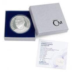 Отчеканена монета с изображением чешского футболиста Яна Коллера