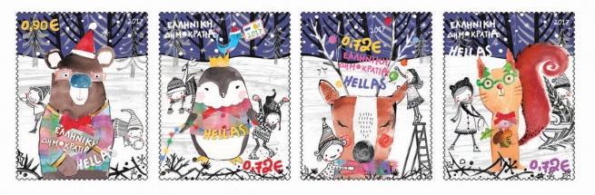 Почта Греции представила для коллекционеров рождественские почтовые марки