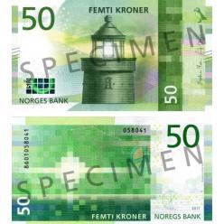 В Норвегии выпущены в обращение новые купюры номиналом 50 и 500 крон