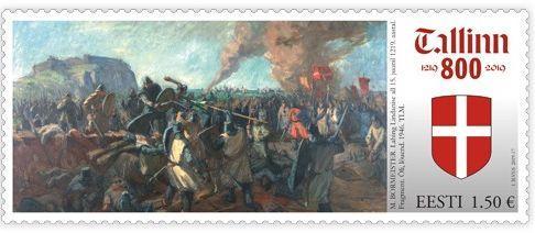 В Эстонии представили почтовую марку в честь 800-летия первого упоминания о Таллине