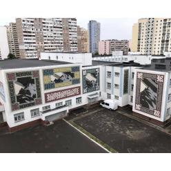 Художники из Исландии разрисовали стены киевской скандинавской гимназии