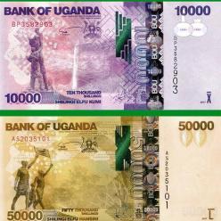 В Республике Уганда выпущены в обращение обновленные купюры