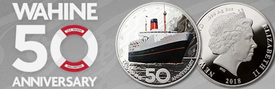 В Новой Зеландии выпущена монета в честь 50-летия кораблекрушения
