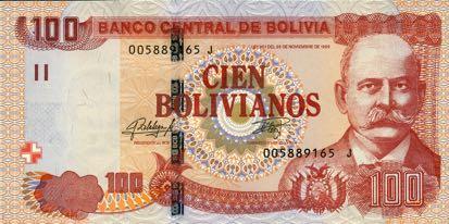 У Болівії з'явиться нова банкнота номіналом 100 болівіано зразка 2018 року
