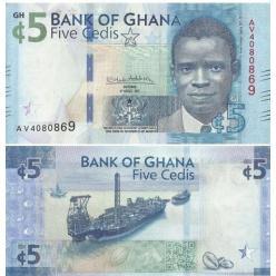 В Республике Ганы выпущена новая купюра номиналом 5 седи