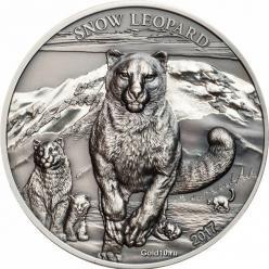 В Монголии вышла монета с изображением снежного барса