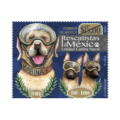 В Мексике выпущена почтовая марка в честь четвероногих спасателей
