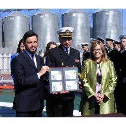 В Одессе погасили марку, посвященную 100-летию поднятия кораблями Черноморского флота украинского флага