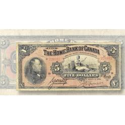Обнаружена вторая банкнота Home Bank of Canada 1920 года номиналом 5 долларов
