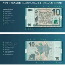   В Азербайджане выпустили в обращение обновленную банкноту номиналом 10 манатов