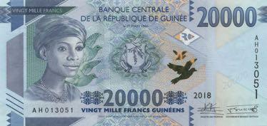 В Гвинее в обращении появились денежные знаки нового типа