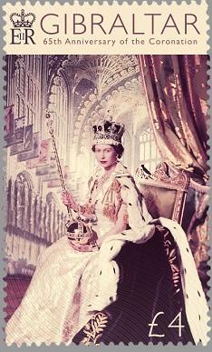 Гибралтар представил марку в честь годовщины коронации королевы
