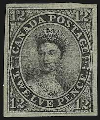 Марка «Черная королева Канады» (1851) предстанет на аукционе в Нью-Йорке