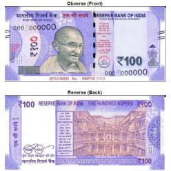 В Индии представлена банкнота номиналом 100 рупий новой серии