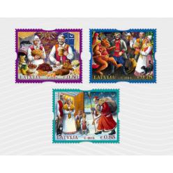  Почта Латвии представила рождественские марки