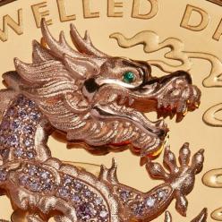 В Австралии отчеканена монета «Драгоценный Дракон», тираж которой только 9 экземпляров