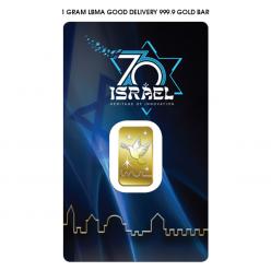 В Израиле представлены инвестиционные золотые слитки с изображением голубя над стенами Иерусалима