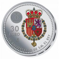 В Испании, в честь 50-летия Короля, выпущены памятная монета и марка