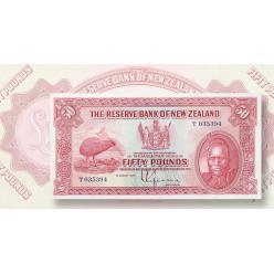  Новозеландская банкнота номиналом 50 фунтов стерлингов 1934 года возглавила продажу Kagin's Auctions