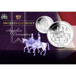 На монетах острова Вознесения представлена королевская печать
