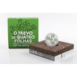В Португалии отчеканили монету, на которой изображен четырехлистный клевер