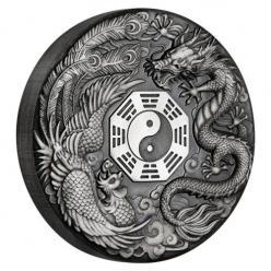 В Австралии представили серебряную монету «Дракон и Феникс»